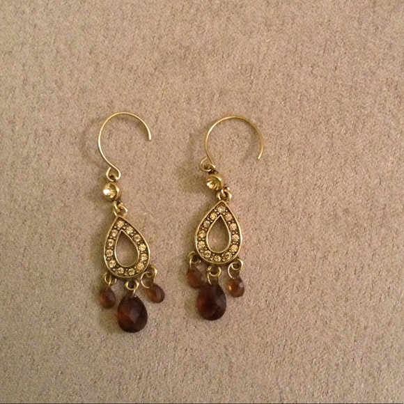 Monet Jewelry Monet Jewelry Brown Chandelier Earrings izgyp